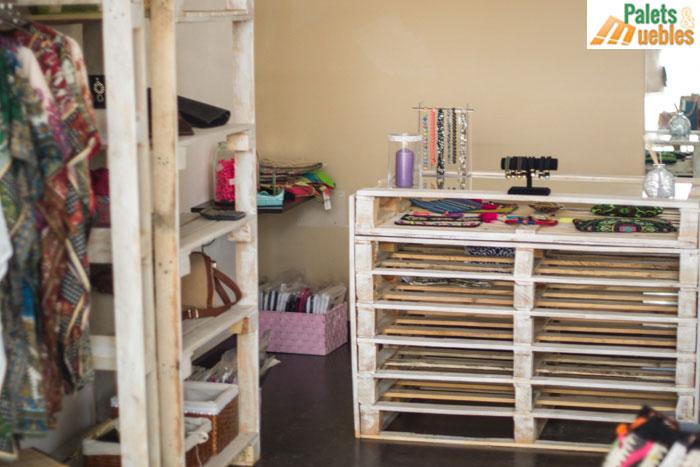 Decoracion estanteria muebles con palets palets y muebles - Estanterias con palet ...