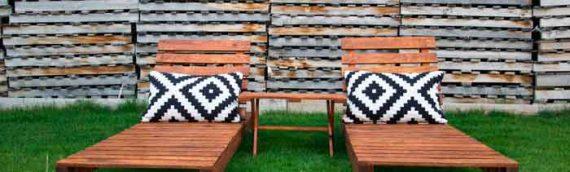 Tumbona con tablas de palets