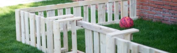 Cerramiento y vallado con tablas de palets