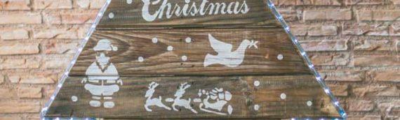 Árbol de Navidad con tablas de palets