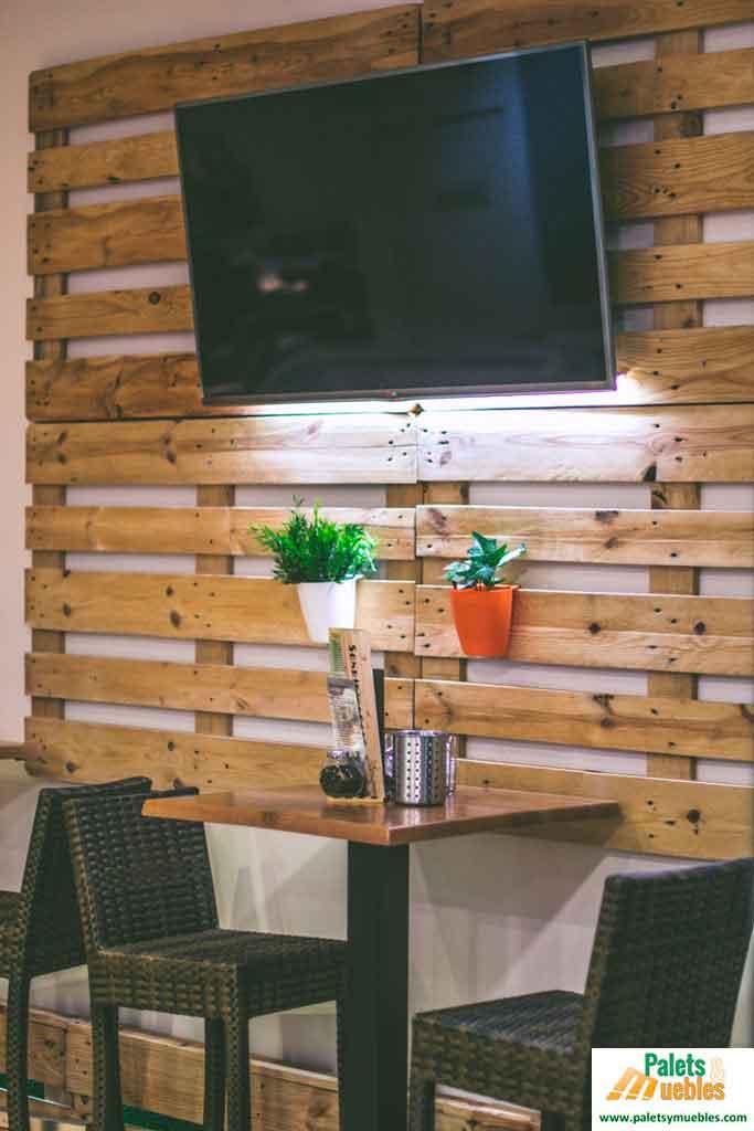 Decoraci n cafeter a con palets palets y muebles - Palets para decoracion ...