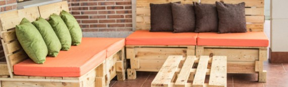 Sillón-sofá modular con palets