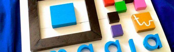 Rótulo con tablas de palets