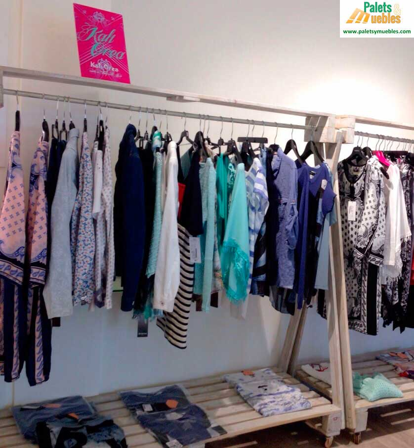Decoracion tienda complementos para mujer palets y muebles for Muebles hechos con palets fotos