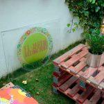 decoracion con palets en el camino de santiago