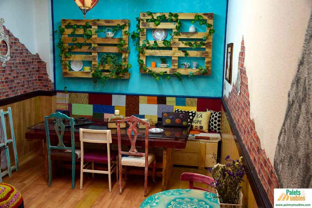 cafeteria vintage palets y muebles