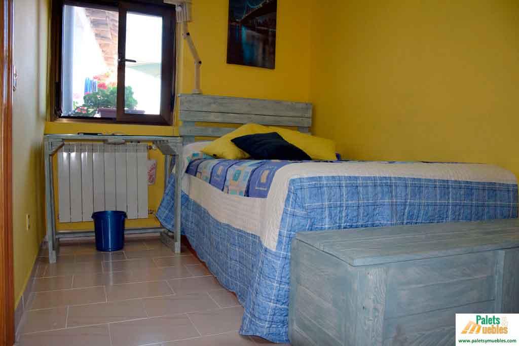 Dormitorio juvenil de palets palets y muebles - Dormitorios con palets ...