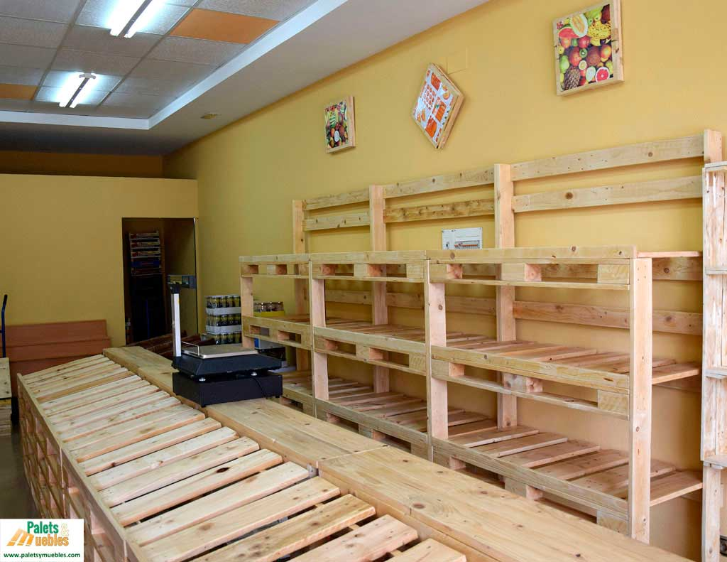 mobiliario con palets palets y muebles