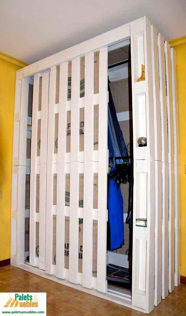 Armario hecho con palets palets y muebles Armarios hechos con palets