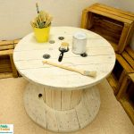 mostrador y mesa con autentico chalk paints