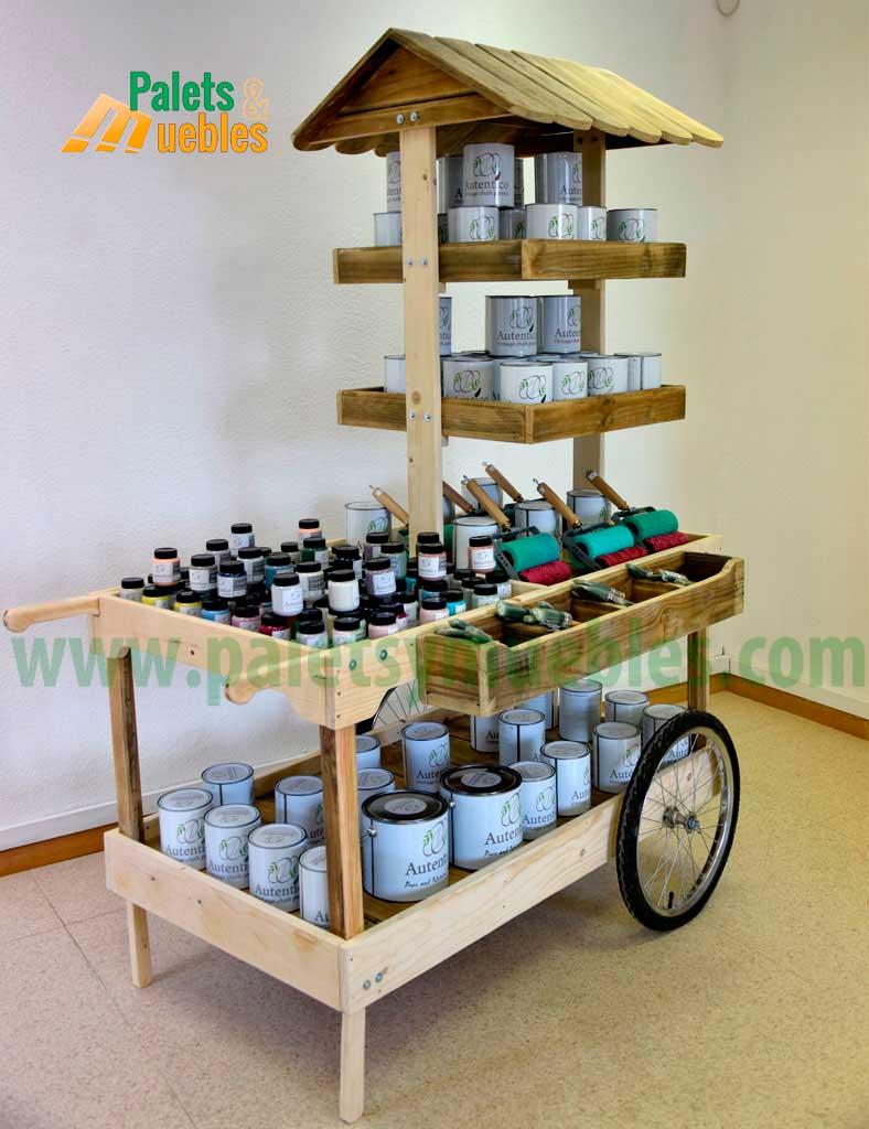 Carrito para eventos desmontable palets y muebles for Madera para palets