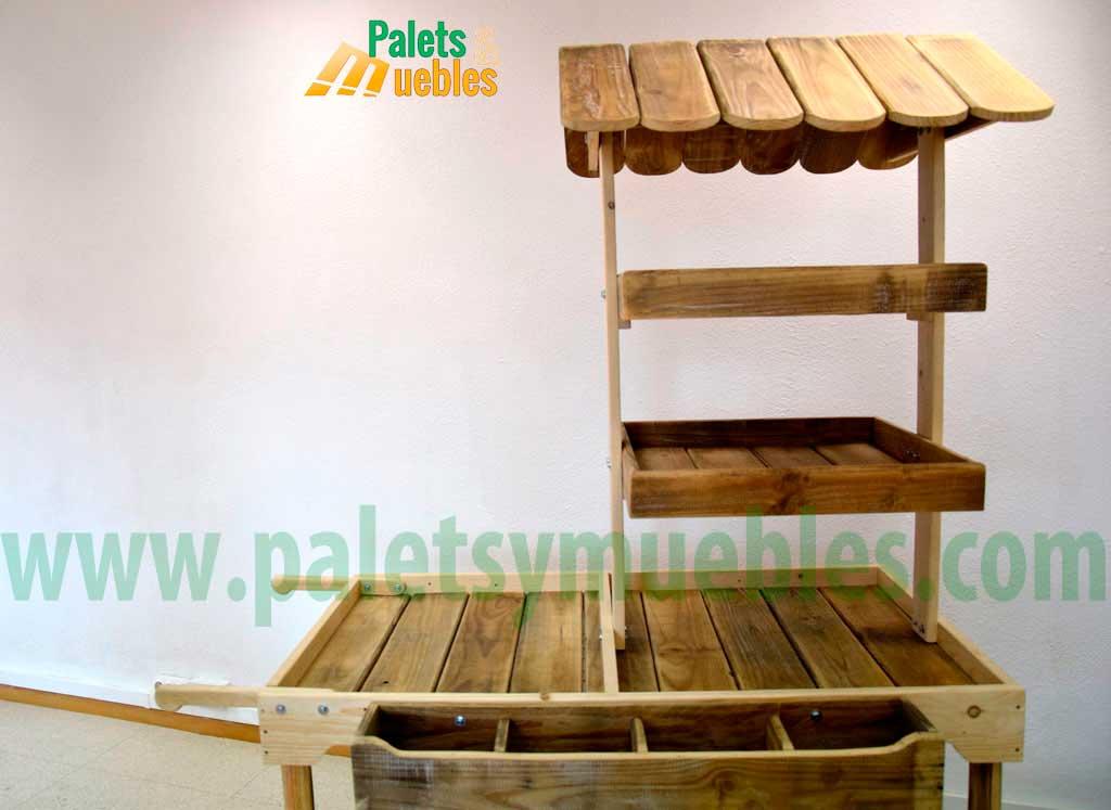 Carrito para eventos desmontable con tablas de palets for Carrito bar de madera