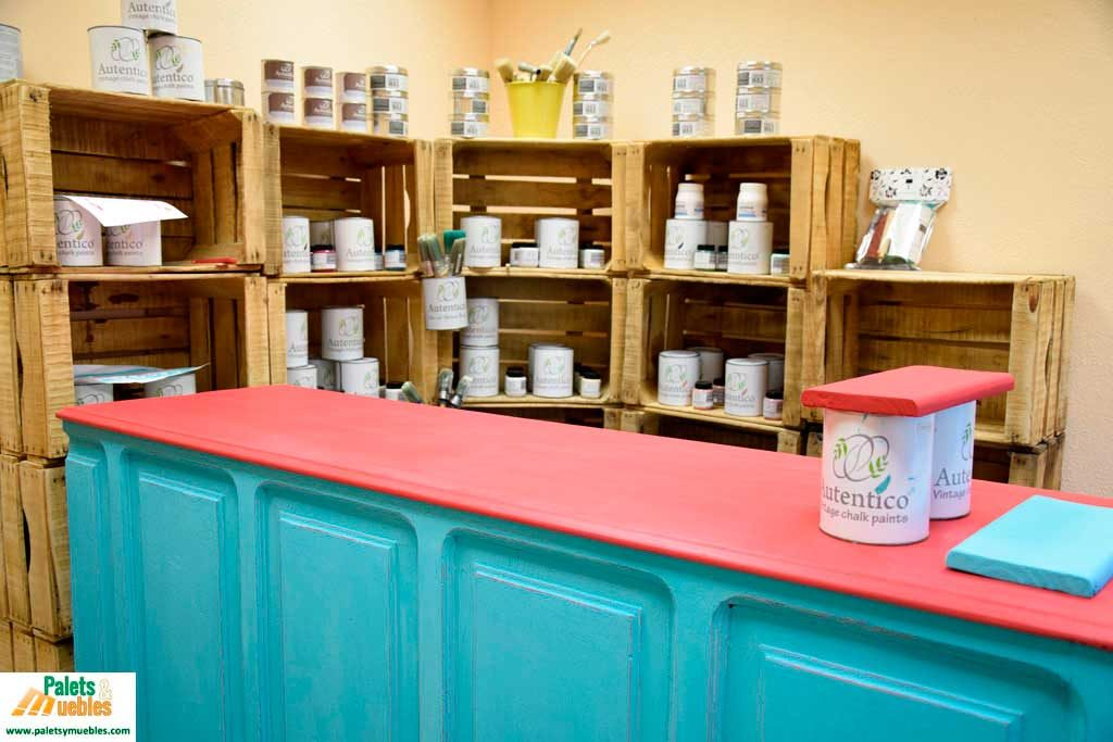 autentico chalk paint, palets y muebles