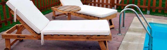 Muebles de palets para piscina y jardín