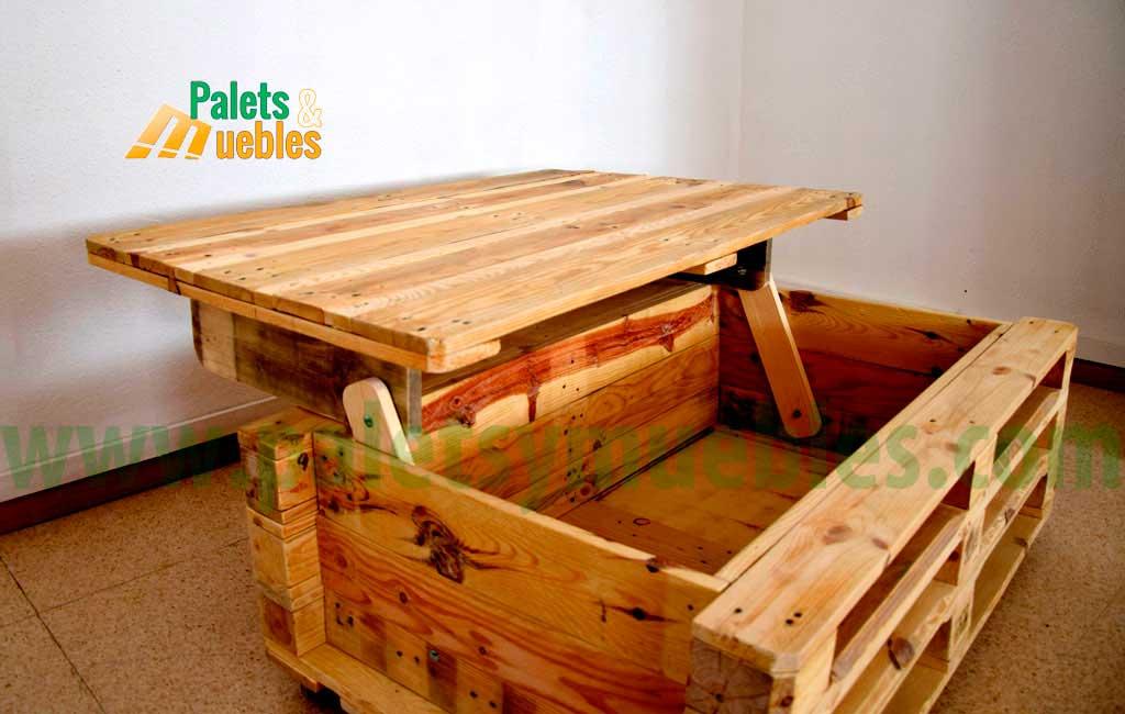 Mesa con palets palets y muebles - Como hacer una mesa con palets ...