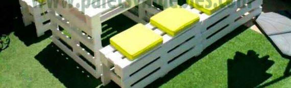 Muebles Low Cost con palets para tu jardín