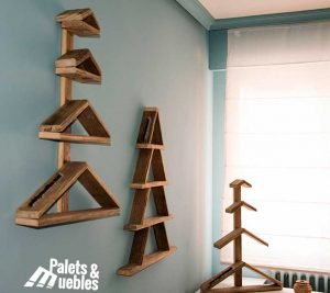 arboles de navidad palets de madera