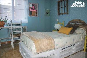dormitorio, ideas con palets palets y muebles