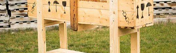 Huerto Urbano de madera reciclada