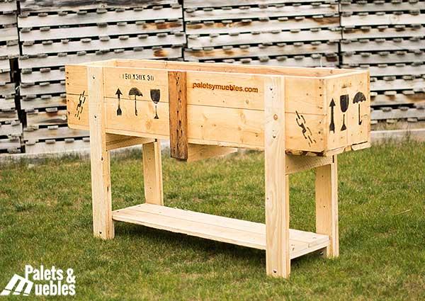 Huerto urbano reciclado palets y muebles for Reciclar palets de madera muebles