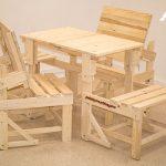 mesa silla de palets