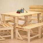 palets y muebles banco mesa