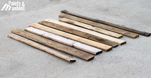 tabla de palet sueltas
